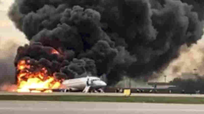 Fiery Crash Landing Of Russian Passenger Plane In Moscow Leaves 41 Dead