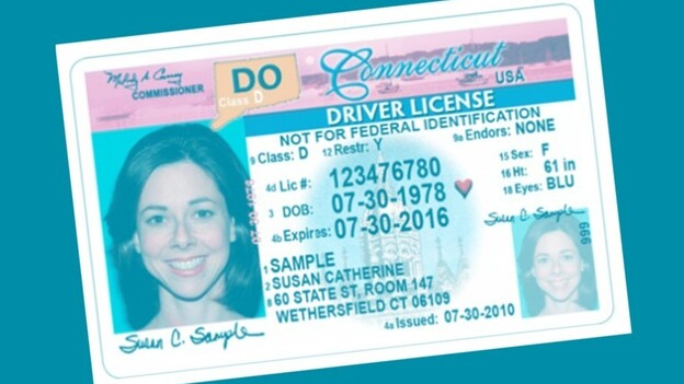 A sample Drive Only license from Connecticut. (Courtesy of Connecticut Department of Motor Vehicles)