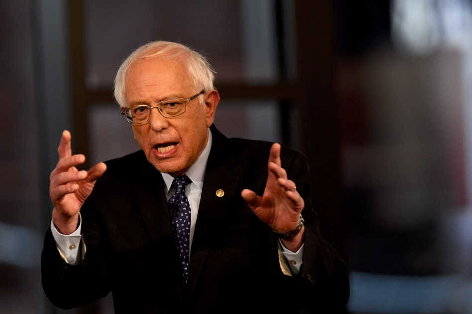 Democratic presidential candidate Sen. Bernie Sanders, seen during a Fox News town hall in April, has suggested that prisoners should be allowed to vote. (Mark Makela/Getty Images)