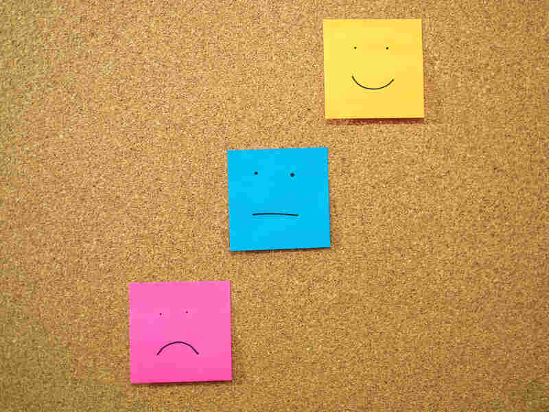 Feedback post-it notes.