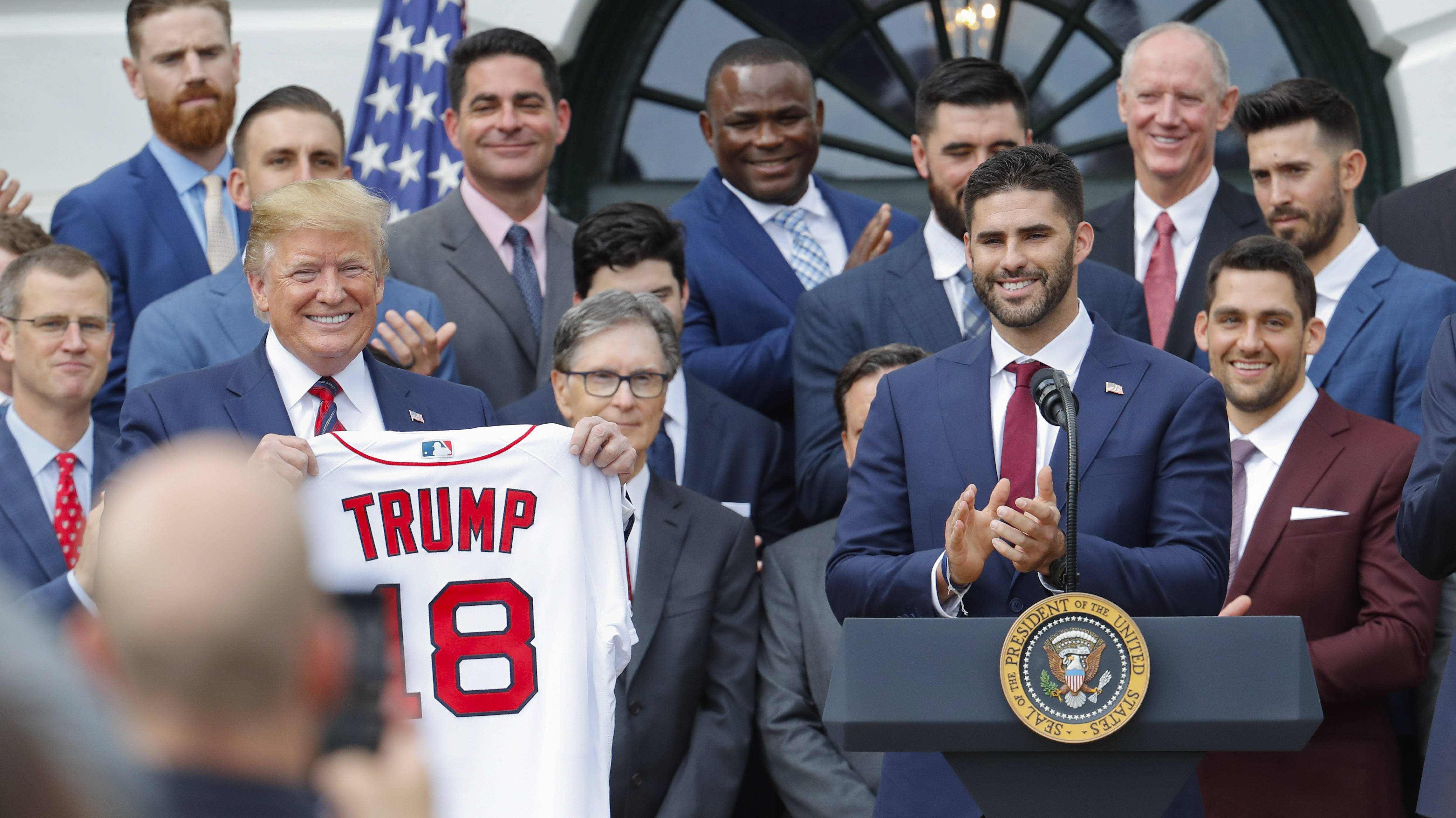 With Some Players Bowing Out, Trump Hosts Red Sox At The White House