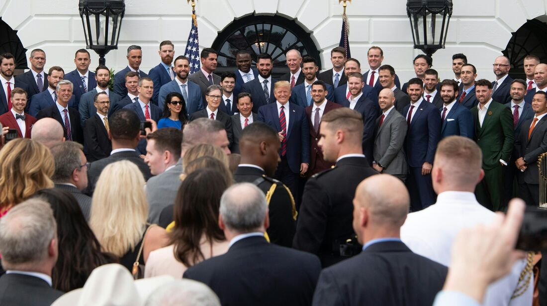 The Boston Red Sox Honored At White House Ceremony : NPR