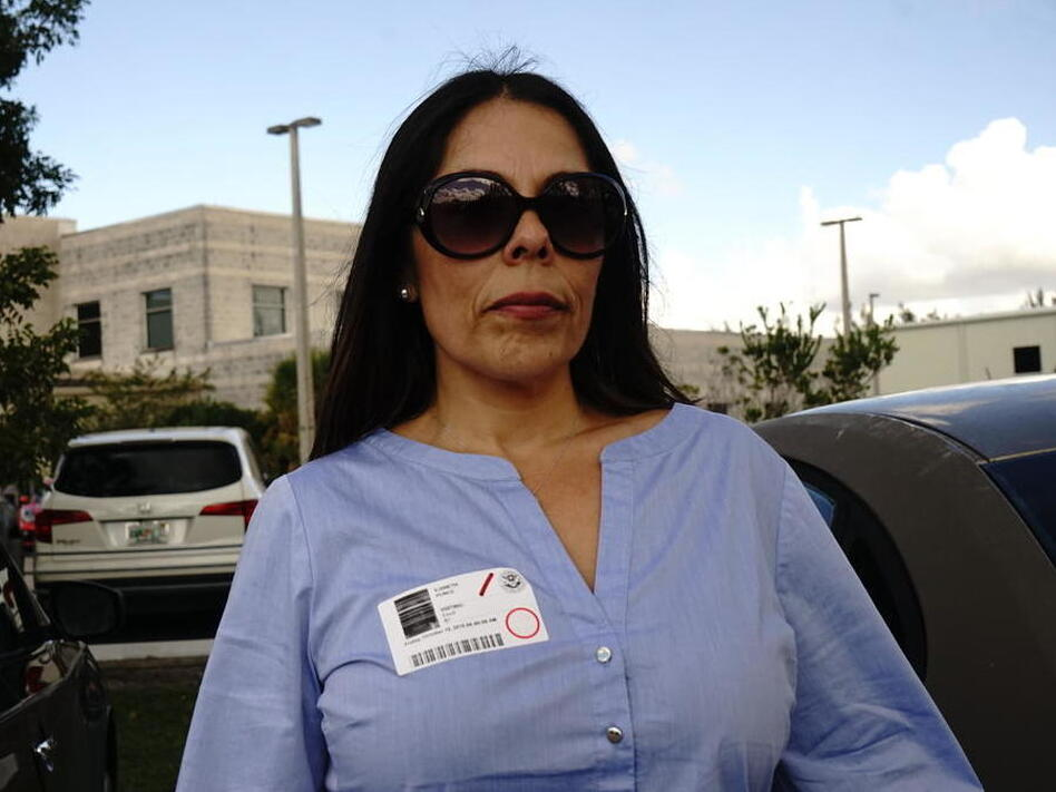 Vianeth Avila's husband, Cuban-born Jesus Avila, was detained by immigration officials at the airport as they returned from their honeymoon. In recent years, the U.S. government has taken a tougher stand against Cuban immigrants. (Daniel Rivero/WLRN)