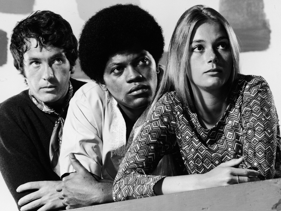 Michael Cole, Clarence Williams III and Peggy Lipton starred in the 1960s show 'The Mod Squad' which was considered groundbreaking for featuring an interracial cast. (Hulton Archive/Getty Images)