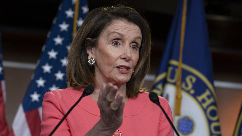 Speaker of the House Nancy Pelosi talks to the media at a news conference on Capitol Hill on May 2. (J. Scott Applewhite/AP)