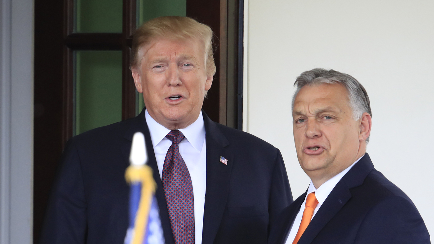 Trump Greets Hungary's Hard-Right Leader In Oval Office