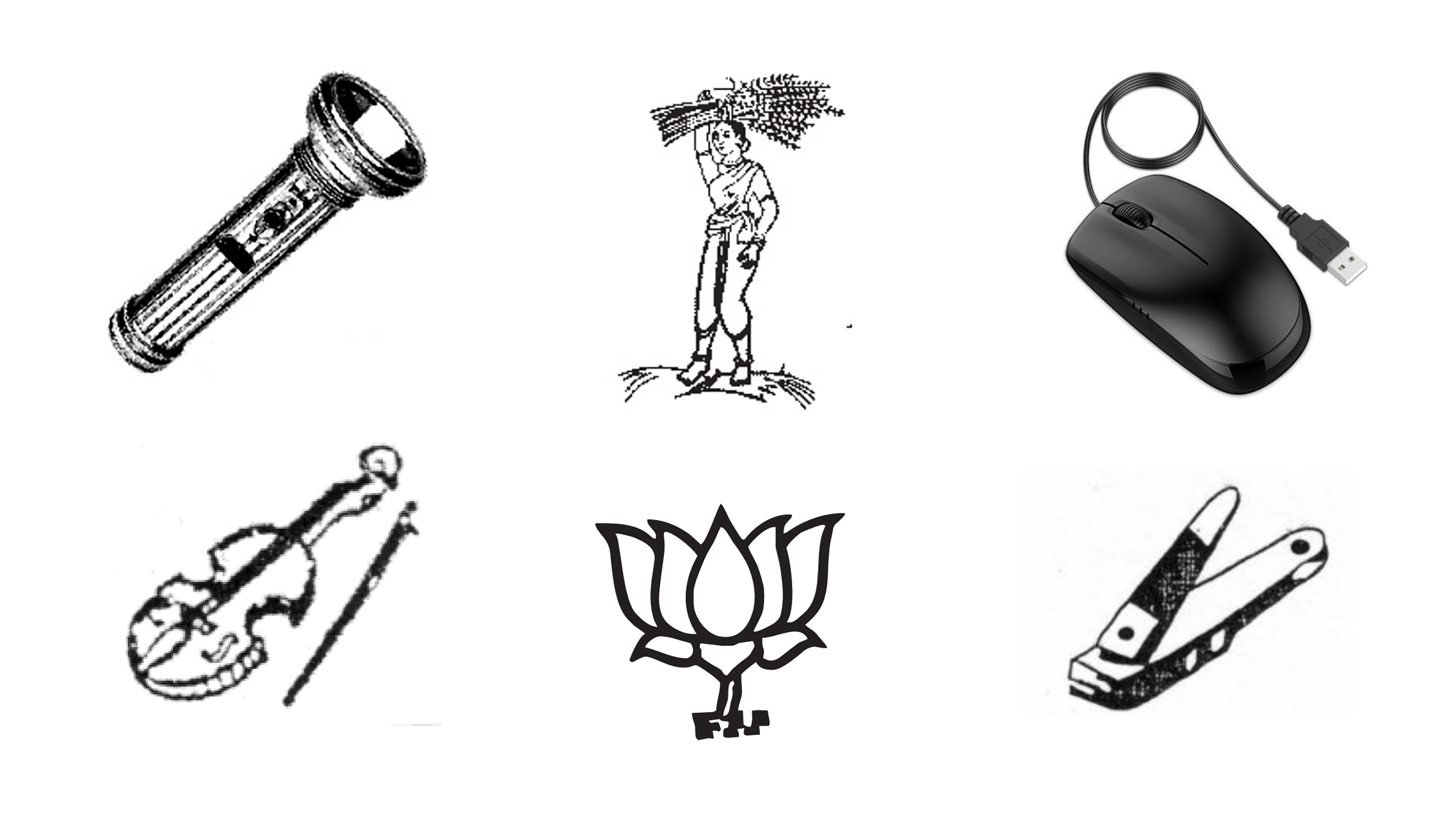 India's Ballot Has Some Really Offbeat Symbols For Its Political Parties
