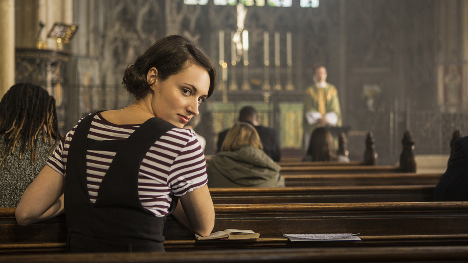 """In the second season of <em>Fleabag</em>, the title character tries to give up sex — and then meets a priest she desires. """"She had to change in some way, between the two seasons,"""" Phoebe Waller-Bridge says. ( Steve Schofield/Courtesy of Amazon Prime)"""