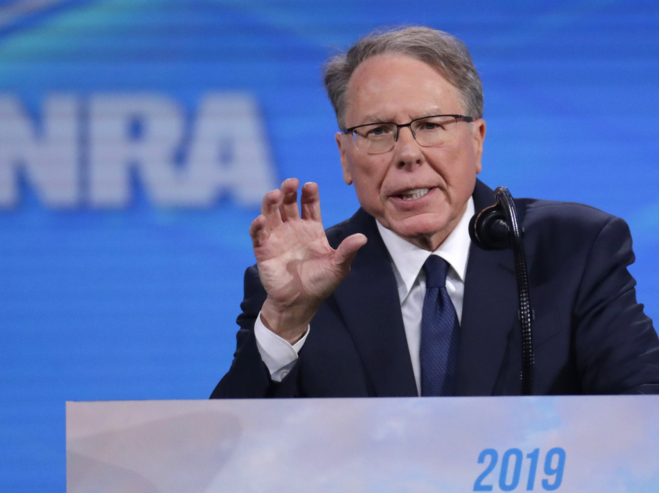 Nation Rifle Association Executive Vice President Wayne LaPierre's spending has come under scrutiny after documents were leaked detailing expensive clothing shopping trips. (Michael Conroy/AP)