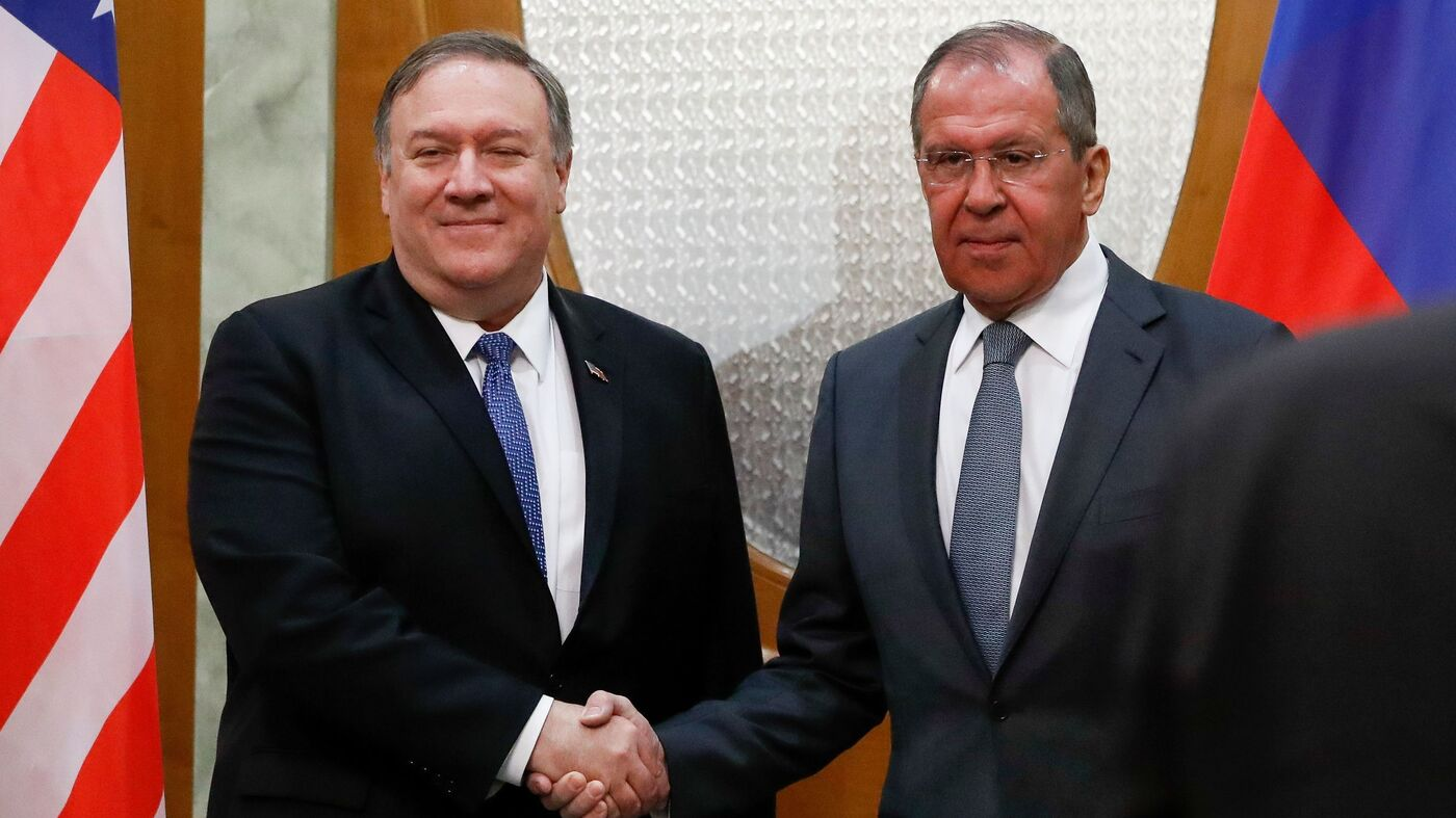 On Visit To Russia, Pompeo Says 'We Would Not Tolerate' Interference In 2020 Election