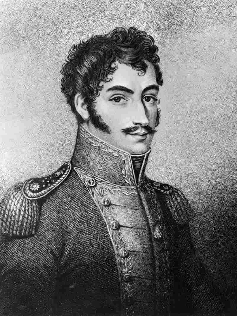 """South American revolutionary leader Simon Bolivar (1783 - 1830), also known as """"The Liberator."""""""