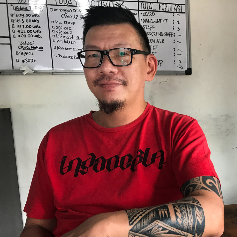 Sam Nugraha, who himself was once addicted to heroin, now runs a rehab center in Indonesia with a different philosophy from those of abstinence-based programs. (Julia Simon for NPR)