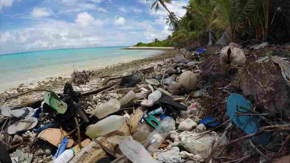 Remote Island Chain Has Few People — But Hundreds Of Millions Of Pieces Of Plastic