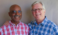 At StoryCorps in Palm Springs, Calif., David Wilson (left) and his husband Robert Compton talk about how, as a same-sex couple, their treatment by others has changed since they were legally married in 2004.