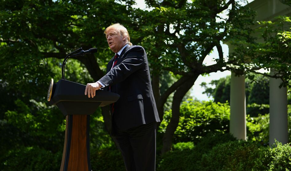 President Trump announces a new immigration proposal in the White House Rose Garden on Thursday. (Brendan Smialowski/AFP/Getty Images)