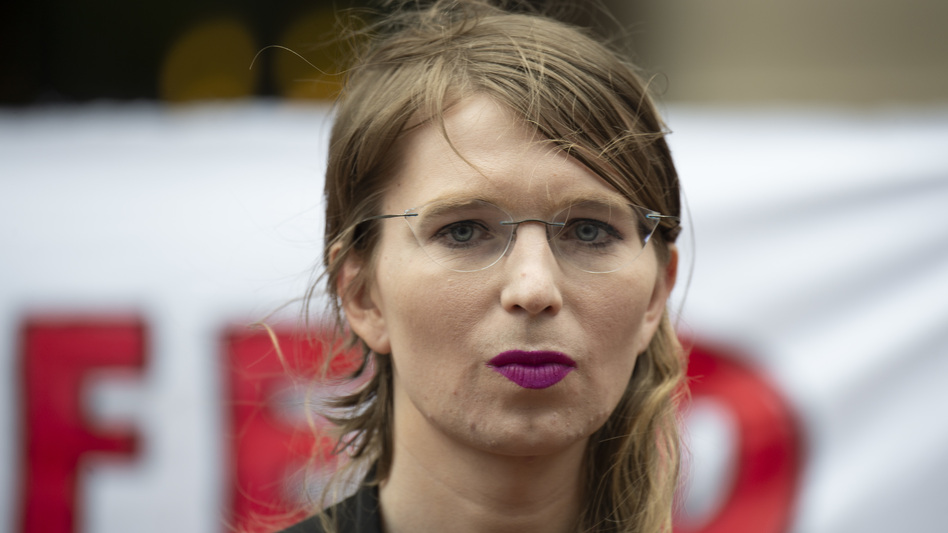 Former military intelligence analyst Chelsea Manning speaks to reporters in Virginia on Thursday. After Manning refused to testify before a grand jury, U.S. District Judge Anthony Trenga said she was in contempt of court and ordered her back to jail. (Eric Baradat/AFP/Getty Images)