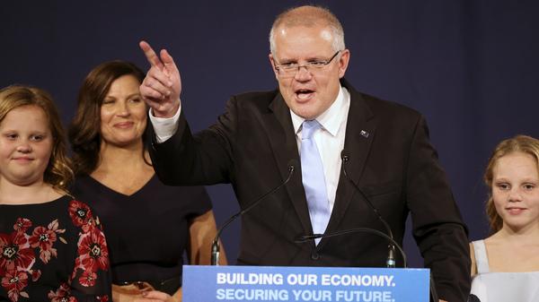 Australia's Prime Minister Scott Morrison Scores Surprise Election Victory