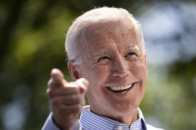 Democratic presidential candidate Joe Biden speaks during a campaign rally in Philadelphia Saturday. (Drew Angerer/Getty Images)