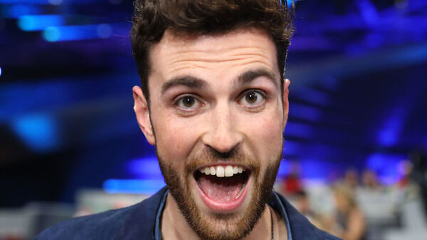 Duncan Laurence of the Netherlands, the winner of Eurovision 2019, captured during the competition on Saturday in Tel Aviv, Israel.