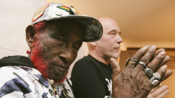 """Lee """"Scratch"""" Perry teams up with Adrian Sherwood (right) on his new album, Rainford."""