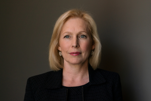 Sen. Kirsten Gillibrand, D-N.Y., says if she becomes president she would only appoint judges and justices who would maintain <em>Roe v. Wade.</em> (Claire Harbage/NPR)
