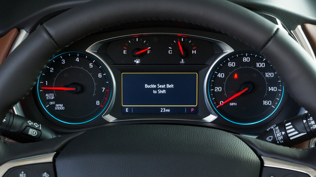 Chevrolet's new Buckle to Drive feature, available on some 2020 models, is set when the vehicle is in Teen Driver mode. (John F. Martin for Chevrolet)