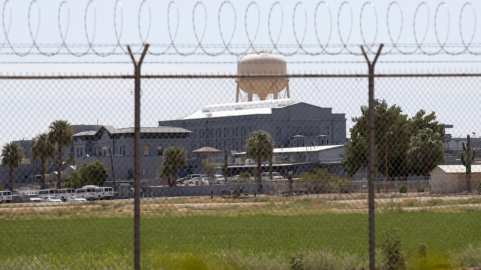 A state prison in Florence, Ariz. Civil liberties advocates are protesting a policy that denies state inmates the right to read a book about the impact of the criminal justice system on black men. (AP)