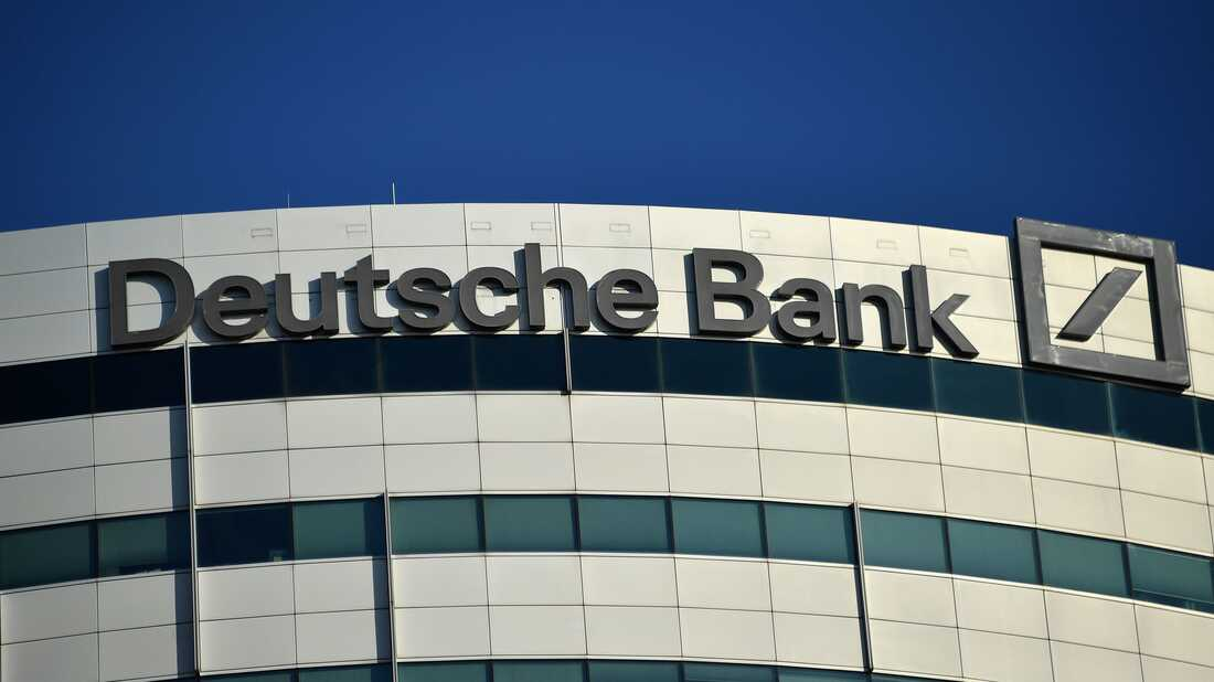 A view of German investment bank and financial services Deutsche Bank.