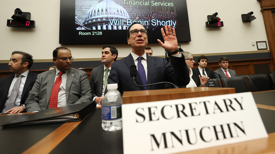 Treasury Secretary Steven Mnuchin says he has not reviewed an IRS memo that says the agency must turn over a president's tax returns to Congress. (Mark Wilson/Getty Images)