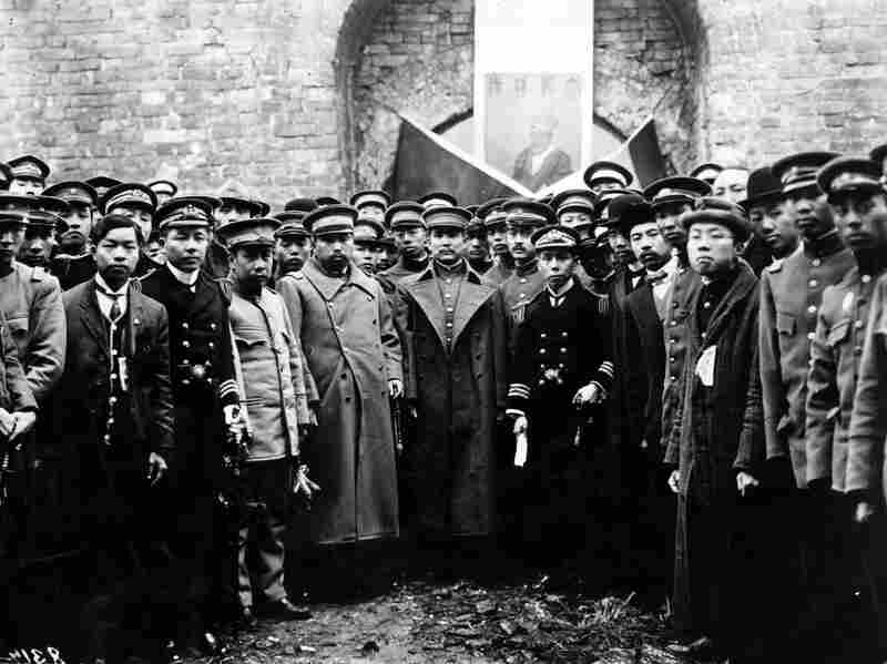 Chinese revolutionary and president Sun Yat-Sen during a visit to the Ming Tombs.