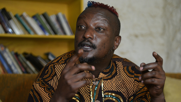 """Kenyan author Binyavanga Wainaina, who died on Tuesday. """"How To Write About Africa"""" is perhaps his most famous essay. """"Whichever angle you take,"""" he urged, tongue-in-cheek, """"be sure to leave the strong impression that without your intervention and your important book, Africa is doomed."""""""