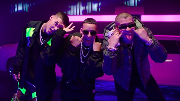 """Three generations of urbano hitmakers — Lanay, Daddy Yankee and Bad Bunny — join together for the """"Soltera (Remix)."""""""