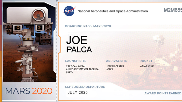 Boarding Pass for Mars