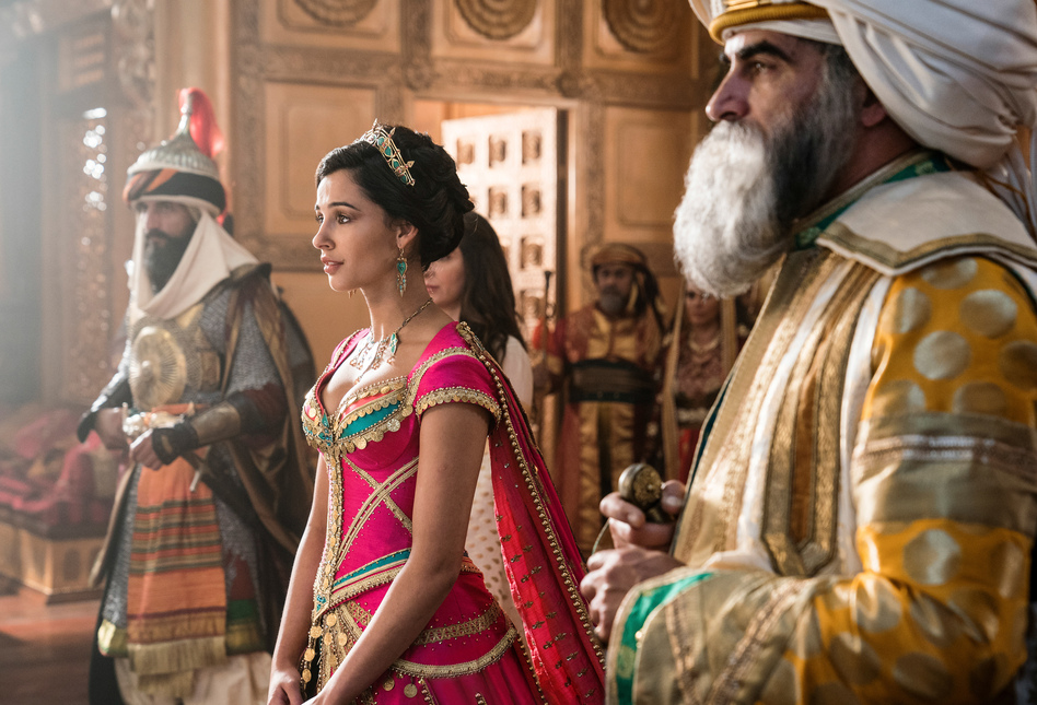 Naomi Scott plays Jasmine in the new live-action <em>Aladdin</em> movie. The character was the first official Disney princess of color in the 1992 animated version of the film. (Daniel Smith/Disney Enterprises, Inc.)