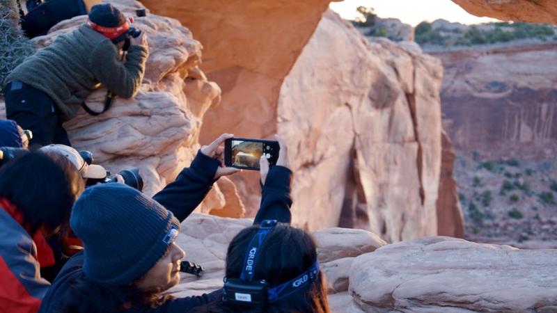 Instagramming Crowds Pack National Parks : NPR