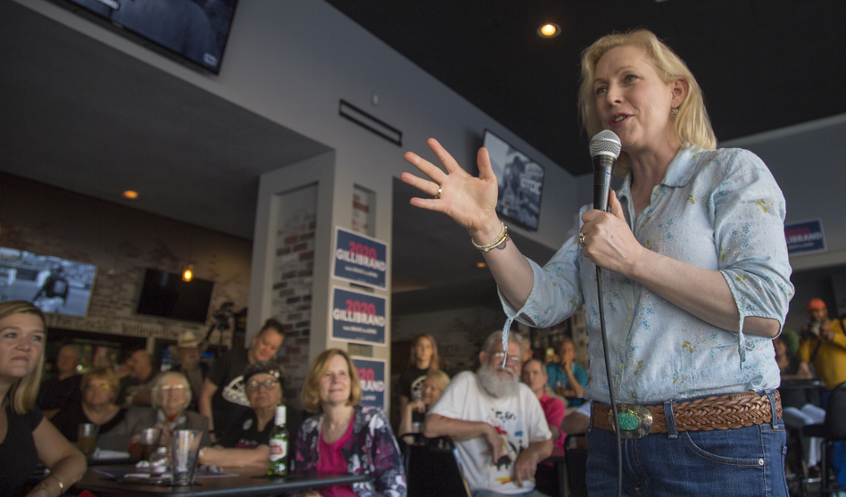 Sen. Kirsten Gillibrand, D-N.Y., is among the Democratic presidential candidates who have been discussing faith on the campaign trail. (Clay Masters/Iowa Public Radio)