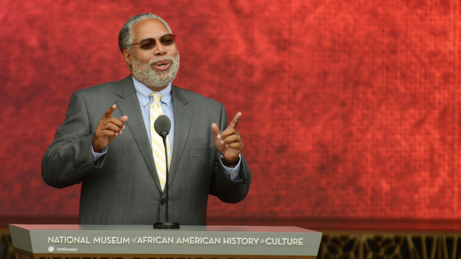 Lonnie G. Bunch III speaks during the 2016 dedication of the National Museum of African History and Culture in Washington, D.C. Bunch, the museum's founding director, will be taking over as secretary of the Smithsonian Institution in mid-June. (Astrid Riecken/Getty Images)