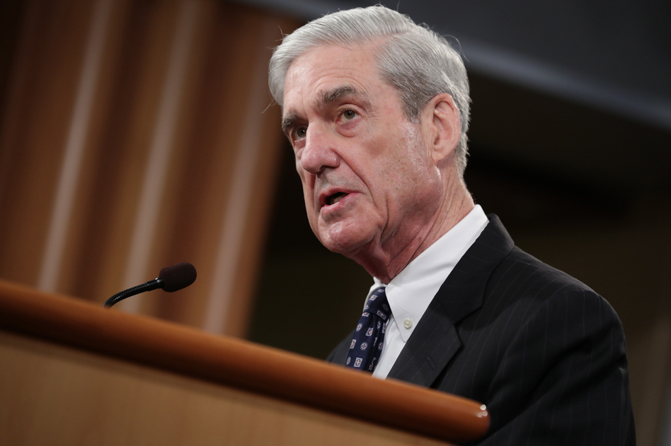 Special counsel Robert Mueller makes a statement about the Russia investigation on Wednesday at the Justice Department. (Chip Somodevilla/Getty Images)
