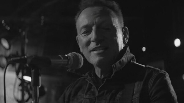 "Bruce Springsteen in the music video for ""Tucson Train."""