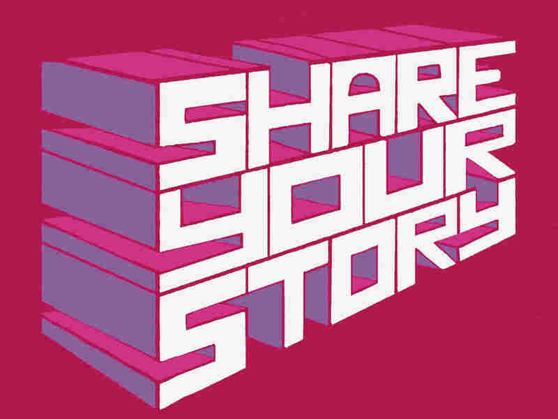 """Share your story"" illustration"
