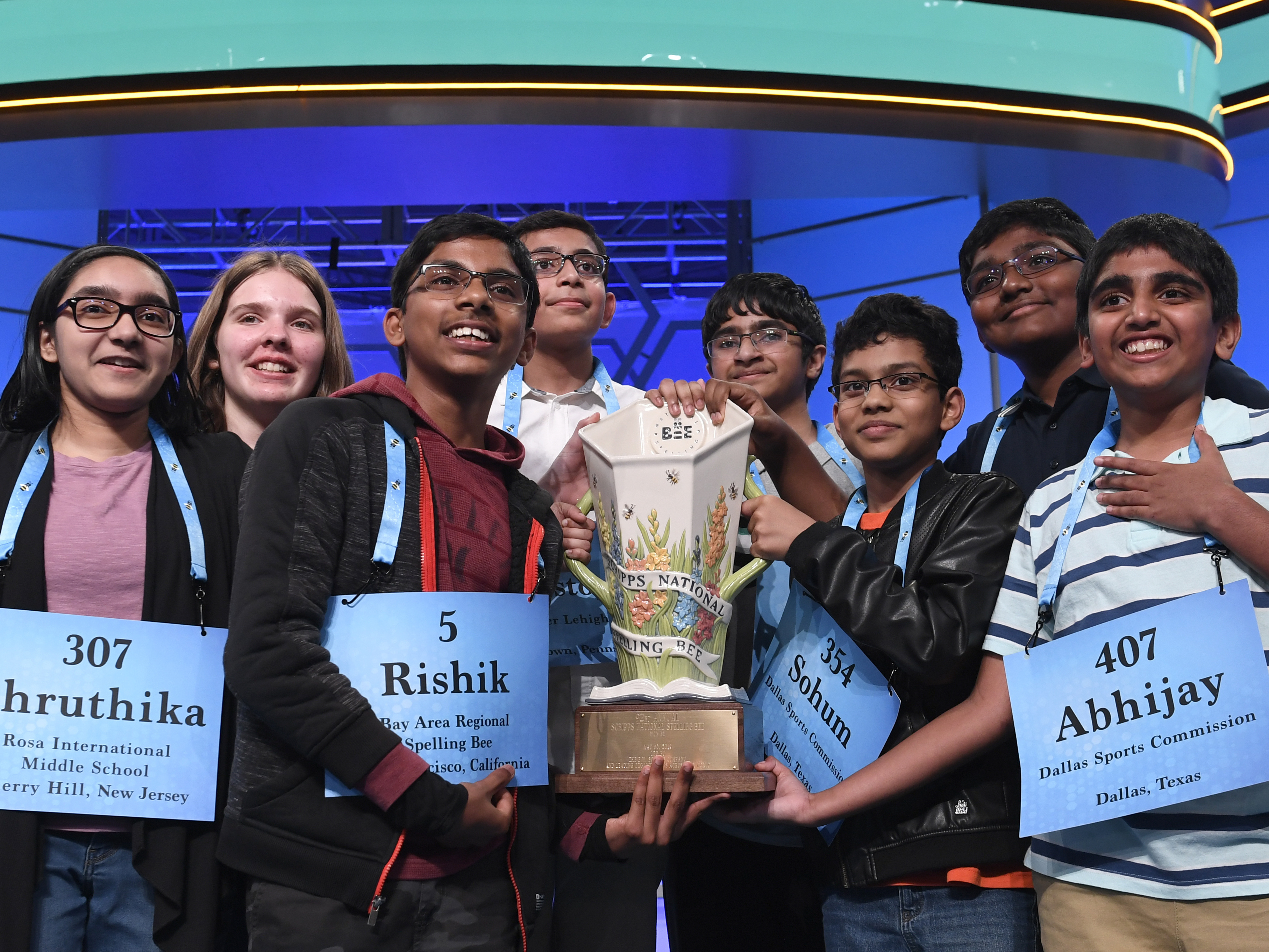 8 Spelling Bee Winners Named As Co-Champions In Historic Marathon Competition