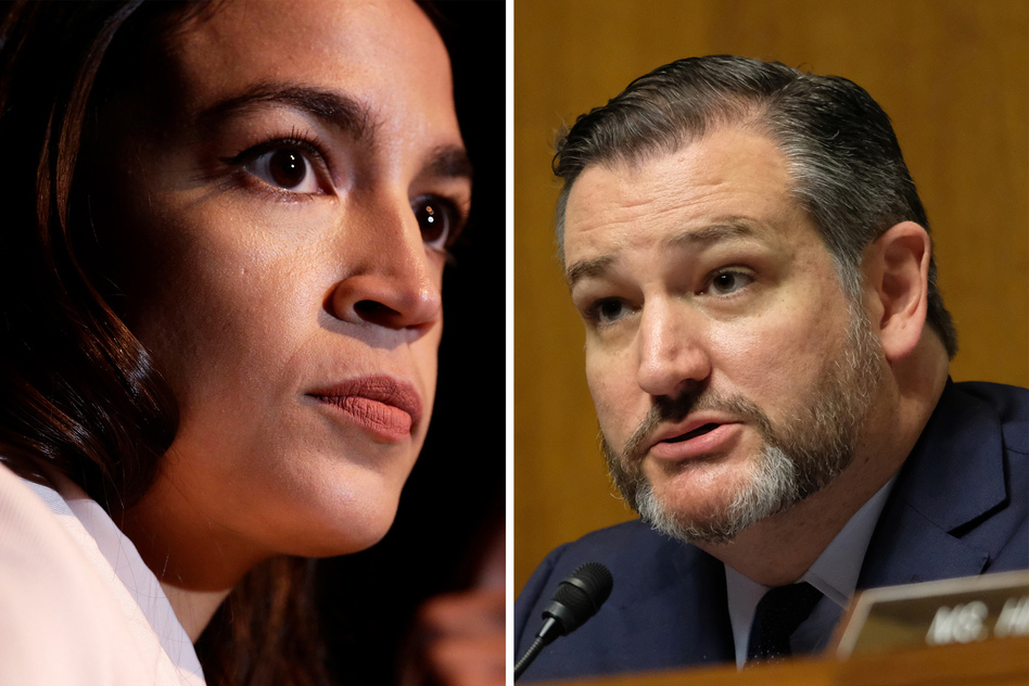 Rep. Alexandria Ocasio-Cortez and Sen. Ted Cruz vowed on Twitter to work together on legislation banning members of Congress who leave office from lobbying. (Alex Wong/Alex Wroblewski/Getty Images)