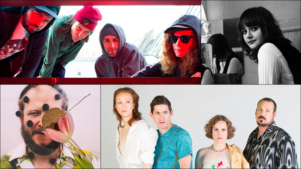 Clockwise from upper left: Wives, Kate Davis, French Vanilla, Bon Iver