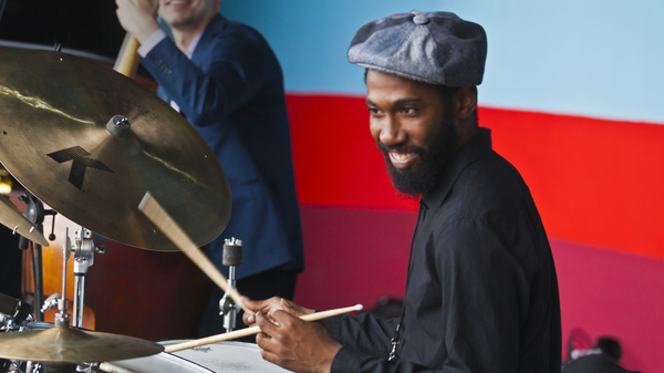 Lawrence Leathers, performing during the Monterey Jazz Festival in 2014. The percussionist was found dead on June 2, 2019 in New York.