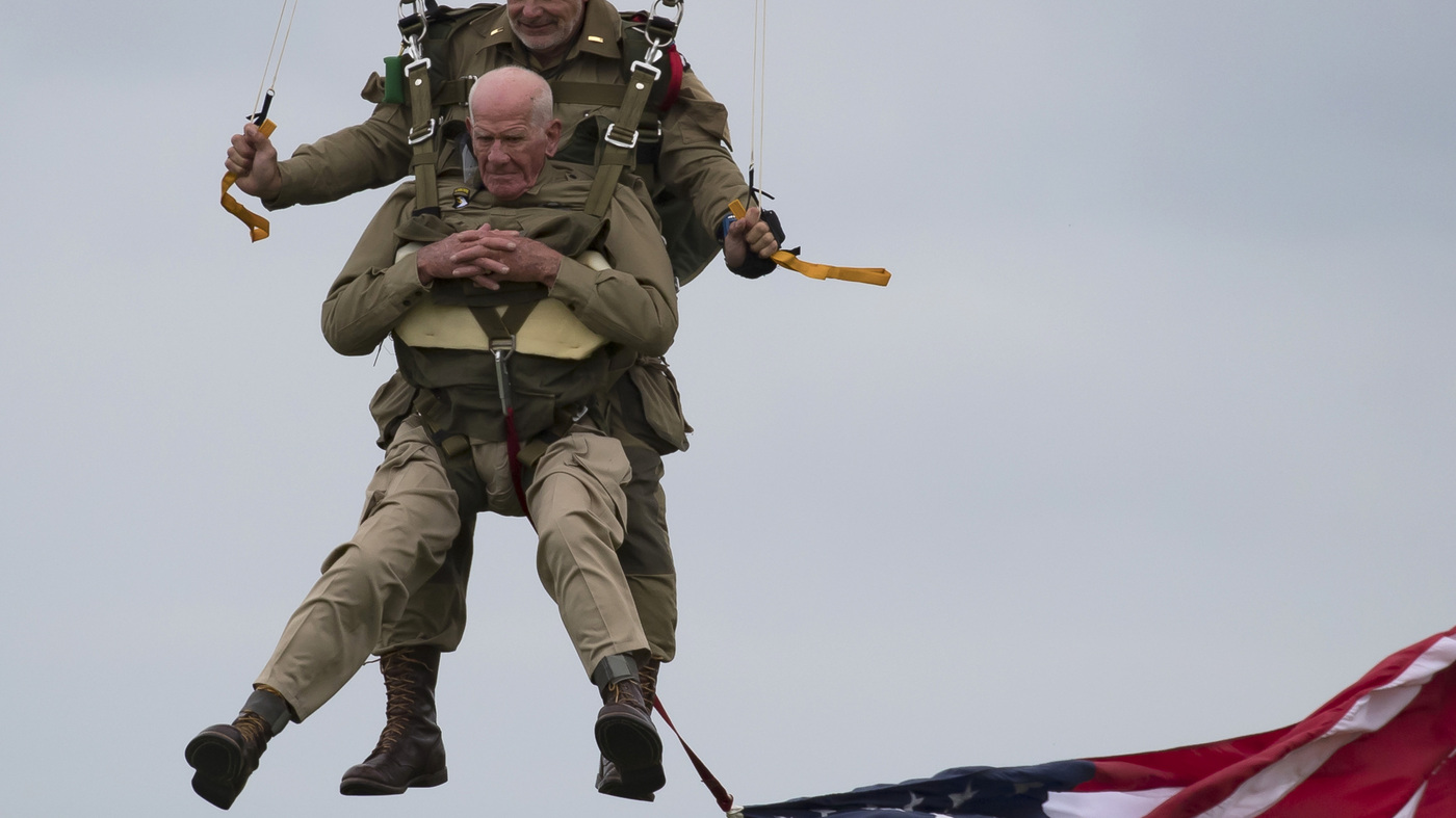 D-Day Vet, 97, Parachutes Into Normandy 75 Years Later : NPR