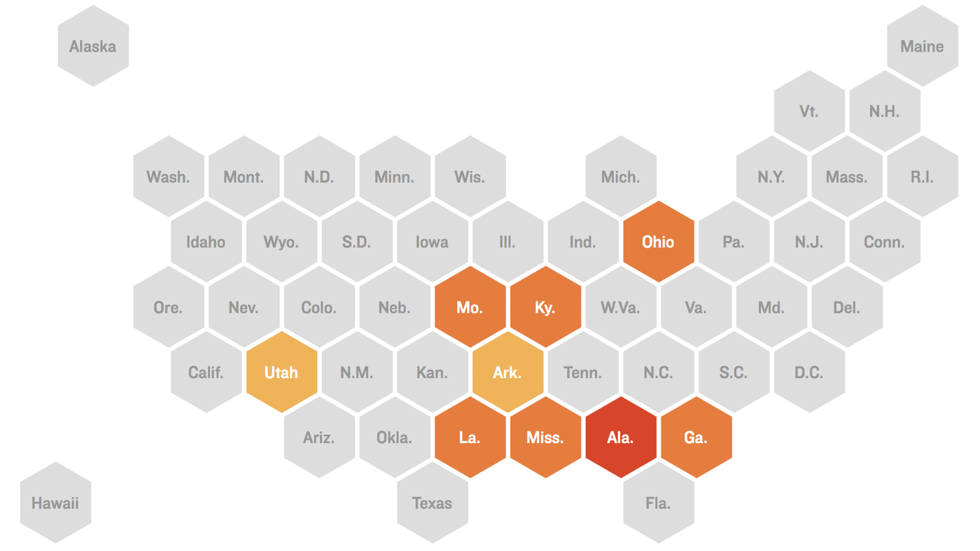 Map: A Look At The States That Have Passed Early Abortion