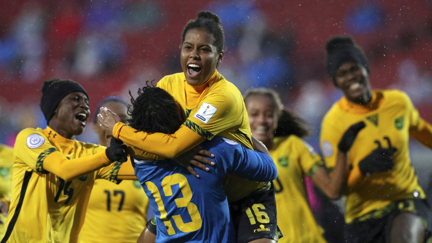 ab331cf3cc7 Jamaican Women's Historic Journey To World Cup, With A Boost From Bob  Marley's Daughter : Goats and Soda : NPR