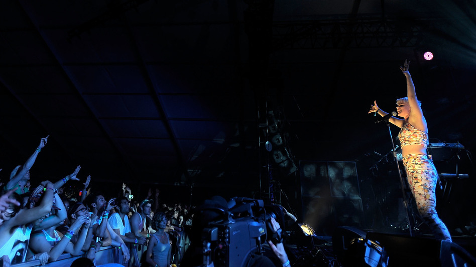 Robyn performs at the Coachella Valley Music & Arts Festival in 2011.