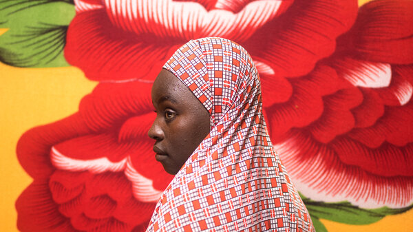 Fatima Dahiru, now 17, lives with her sister and mother in an internally displaced persons camp in Maiduguri, Nigeria. Her village was attacked two years ago.