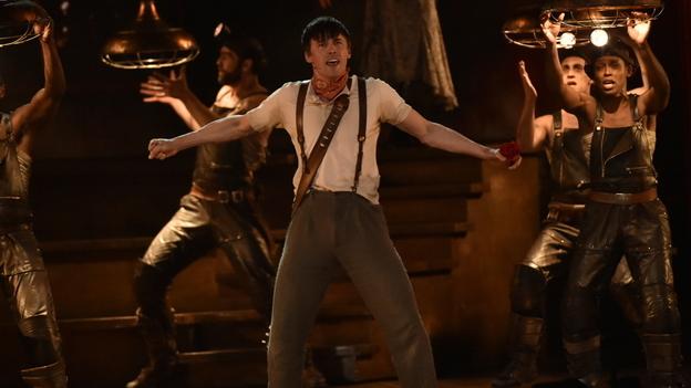 The cast of <em>Hadestown </em>performed at the Tony Awards on Sunday night, as the show won eight awards. (John P. Filo/CBS)